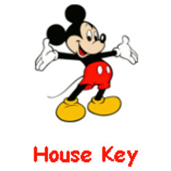 Disney: Mickey Mouse House Keys